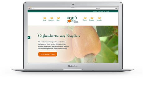 Website cashew Acajú